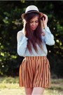 Light-blue-romwe-shirt-burnt-orange-love-shorts