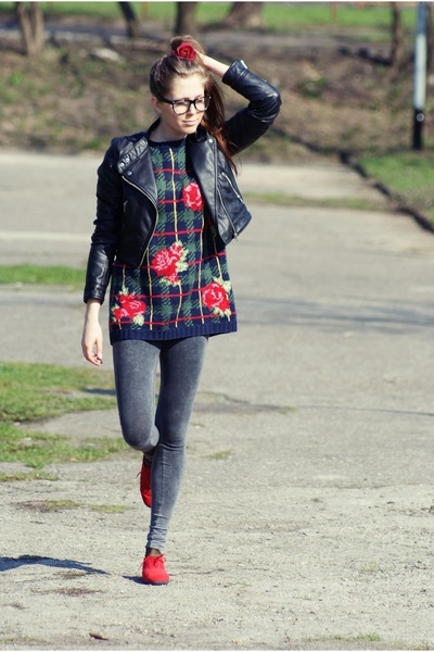 H&M jacket - c&a leggings - Marks&Spencer shoes - no name sweater