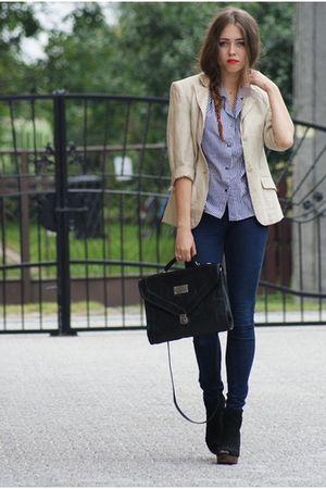 H&M blazer - Bershka shoes - Zara pants