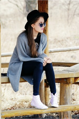 periwinkle Converse sneakers - heather gray Secondhand sweater