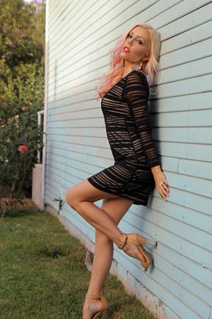 nude GoJane heels - black Im Haute dress
