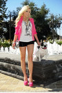 Hot-pink-im-haute-blazer-tweed-im-haute-bag-sequin-im-haute-shorts