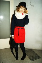 hm sweater - zara bag - vintage skirt