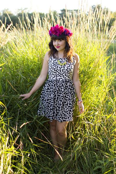 floral crown DIY hair accessory - floral dress xhilaration dress
