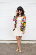 floral blazer MinkPink blazer - lace dress H&M dress