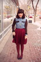 Suka Clothing top - pleated skirt Joe Fresh skirt - AMOR jewelry necklace