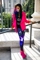 UrbanOG leggings - luluscom blazer - tillys top