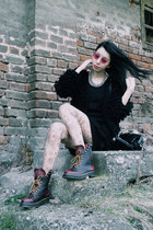 PERSUNMALL boots - JollyChic coat - WOW Vintage glasses