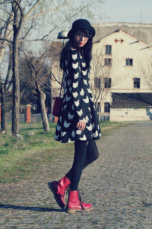 cats print Choies dress