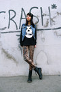 Brown-persunmall-leggings-black-misfits-choies-sweatshirt