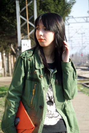 olive green insane jungle jacket - carrot orange Lovely wholesale bag