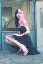 black corset story dress - I love sexy heels