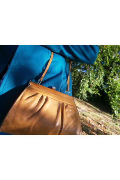 camel leather random purse