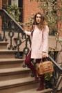Crimson-forever-21-boots-light-pink-wool-zara-coat-pink-wool-sweater
