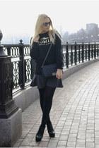 silver infiniteen skirt - black Tally Weijl boots