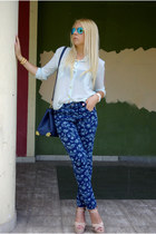 blue AHAISHOPPING jeans - neutral Steve Madden heels