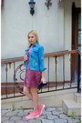 Bubble-gum-yoshop-dress-sky-blue-yoshop-jacket-blue-zaful-sunglasses