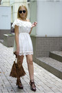 White-cndirect-dress-brown-dresslink-bag