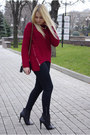 Black-eastclothes-boots-black-forever-21-jeans-ruby-red-eastclothes-sweater