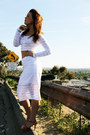 White-crop-top-express-shirt-white-pencil-skirt-express-skirt