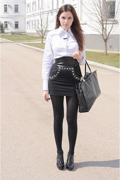 kira plastinina skirt - carlo pazolini bag - APANAGE blouse