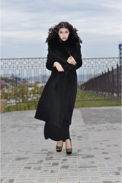 Fendi coat - Louboutin shoes - roberto cavalli ring