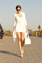 ivory Jane Norman dress - ivory Jane Norman jacket - ivory Gillian bag