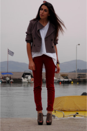 ruby red Zara pants