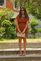 brown asoscom dress