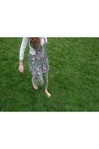 green unkown tights - green DIY dress