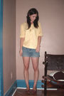 Yellow-flea-market-blouse-blue-diy-shorts-orange-flea-market-bracelet