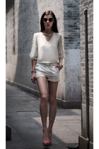 white chiffon Sheinside blouse