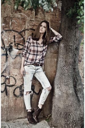 blue Mango jeans - ruby red Mavi Jeans blouse