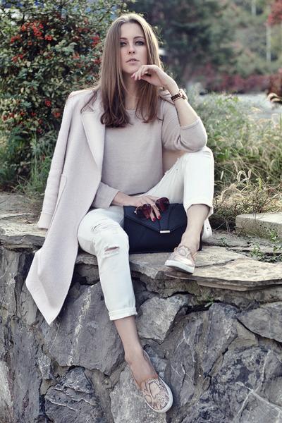 white denim StyleMoi jeans