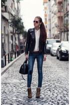 white chiffon Vesst blouse