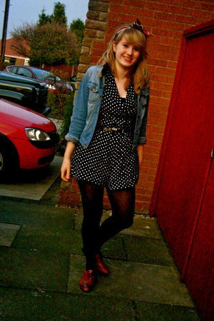 Punkyfish jacket - Primark belt - tesco - Balmain shoes - vintage scarf