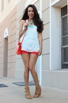 Baby Frou Frou necklace - Target purse - Dailylook shorts