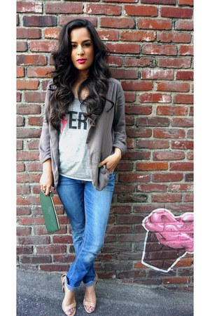 Nordstrom jeans - Forever 21 jacket - Gurkha bag - Urban Outfitters t-shirt
