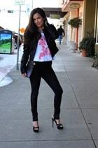 Bebe leggings - Target jacket - liz claiborne purse - Target top