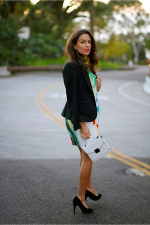Nordstrom blazer - Vince Camuto dress - Forever 21 bag - Nordstrom necklace