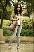 Oxygen jeans - coach bag - Oxygen vest - Stradivarius sandals