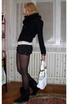 DIY shirt - D&G accessories - versace purse - Stradivarius shorts - Bershka jack