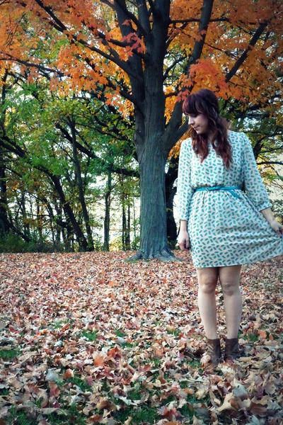 Ruche dress - Target boots - Forever21 belt