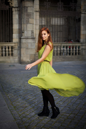 lime green AX Paris dress