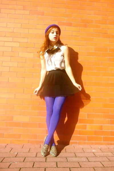 light orange Matiko loafers - blue Shoppalu jacket - black BLANCO necklace