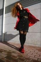black beginning boutique dress - ruby red Ebay heels
