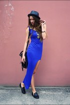romwe dress - unknown shoes - unknown hat - unknown bag