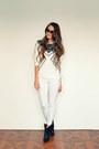 Black-mango-boots-white-h-m-jeans-white-h-m-top