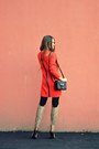 Red-asos-sweater-dark-brown-topshop-bag