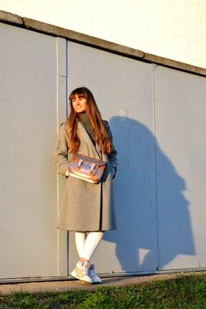 heather gray Zara coat